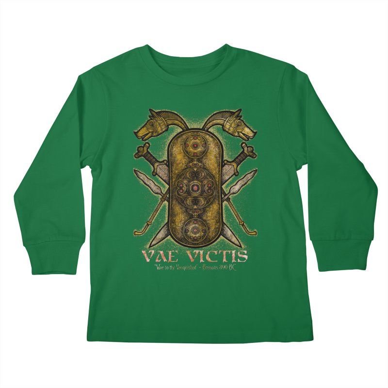 Vae Victis - Woe to the Vanquished Kids Longsleeve T-Shirt by Celtic Hammer Club