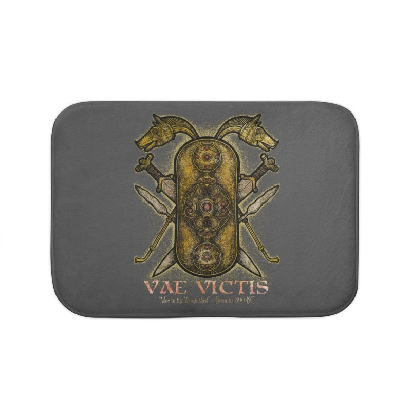 Vae Victis - Woe to the Vanquished Home Bath Mat by Celtic Hammer Club