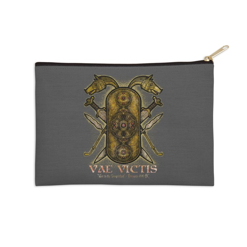 Vae Victis - Woe to the Vanquished Accessories Zip Pouch by Celtic Hammer Club