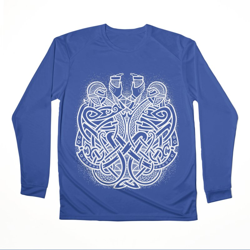 Drink to the Gods Men's Performance Longsleeve T-Shirt by Celtic Hammer Club