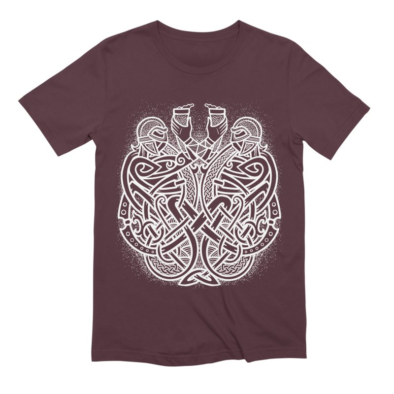 Drink to the Gods Men's Extra Soft T-Shirt by Celtic Hammer Club