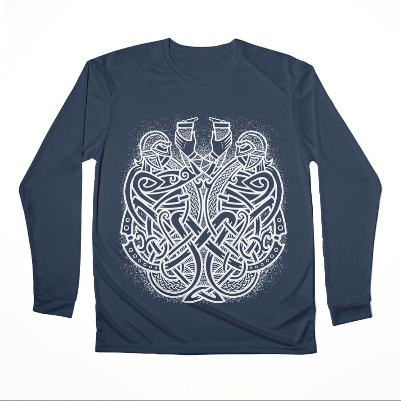 Drink to the Gods Women's Performance Unisex Longsleeve T-Shirt by Celtic Hammer Club