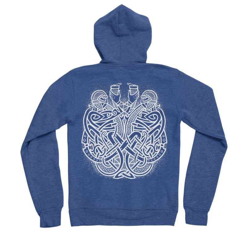 Drink to the Gods Men's Sponge Fleece Zip-Up Hoody by Celtic Hammer Club