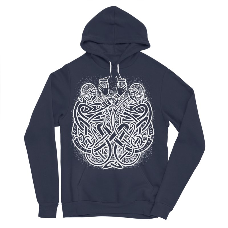 Drink to the Gods Men's Sponge Fleece Pullover Hoody by Celtic Hammer Club