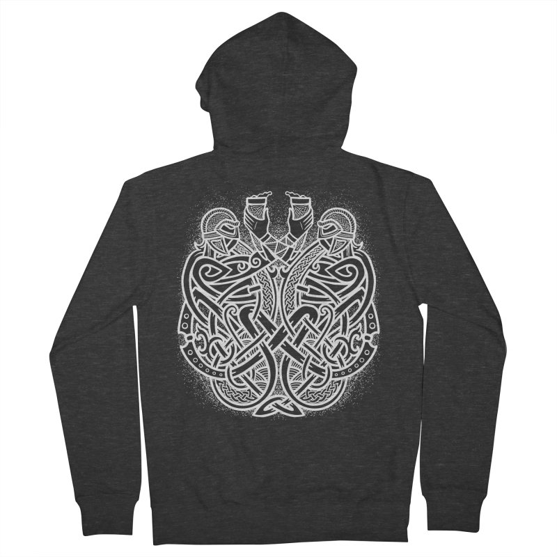 Drink to the Gods Men's French Terry Zip-Up Hoody by Celtic Hammer Club