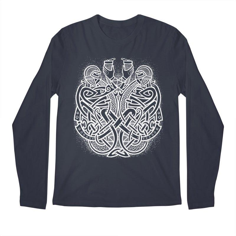 Drink to the Gods Men's Regular Longsleeve T-Shirt by Celtic Hammer Club