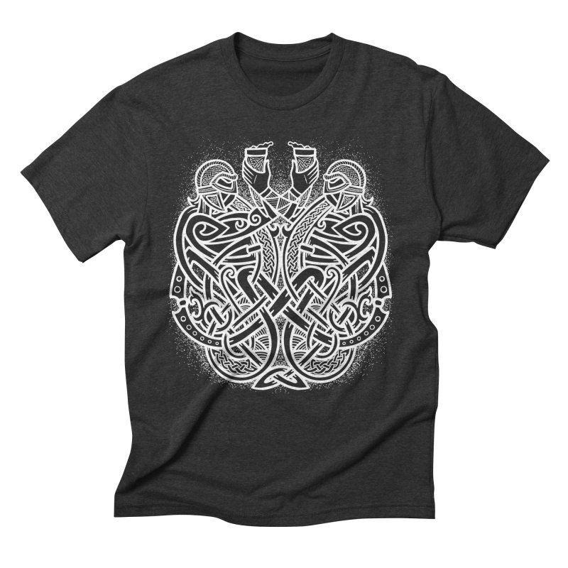 Drink to the Gods Men's Triblend T-Shirt by Celtic Hammer Club