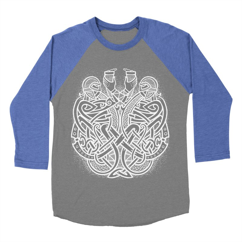 Drink to the Gods Men's Baseball Triblend Longsleeve T-Shirt by Celtic Hammer Club
