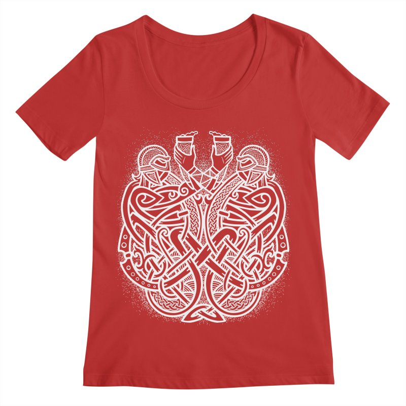 Drink to the Gods Women's Regular Scoop Neck by Celtic Hammer Club