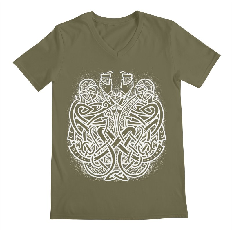 Drink to the Gods Men's Regular V-Neck by Celtic Hammer Club