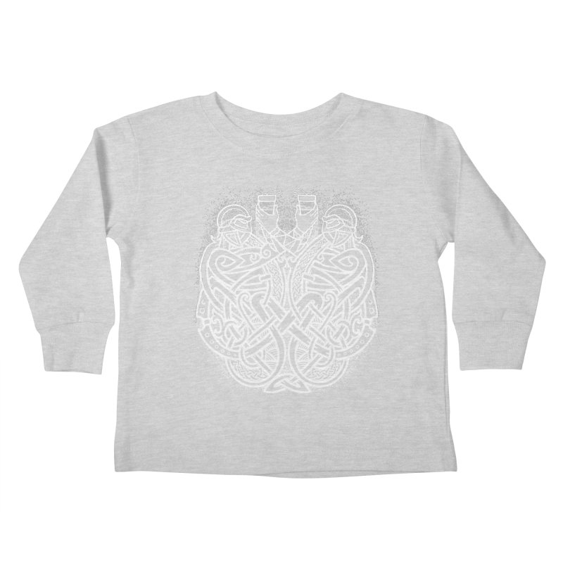 Drink to the Gods Kids Toddler Longsleeve T-Shirt by Celtic Hammer Club