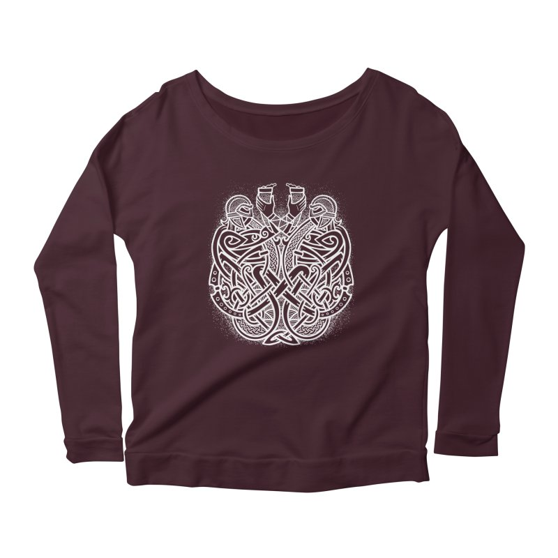 Drink to the Gods Women's Scoop Neck Longsleeve T-Shirt by Celtic Hammer Club