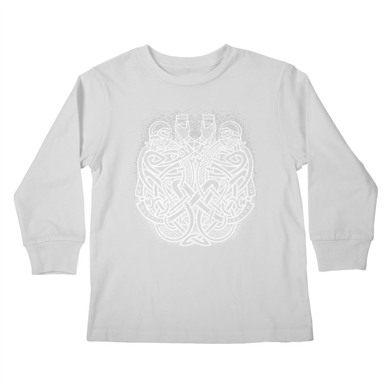 Drink to the Gods Kids Longsleeve T-Shirt by Celtic Hammer Club