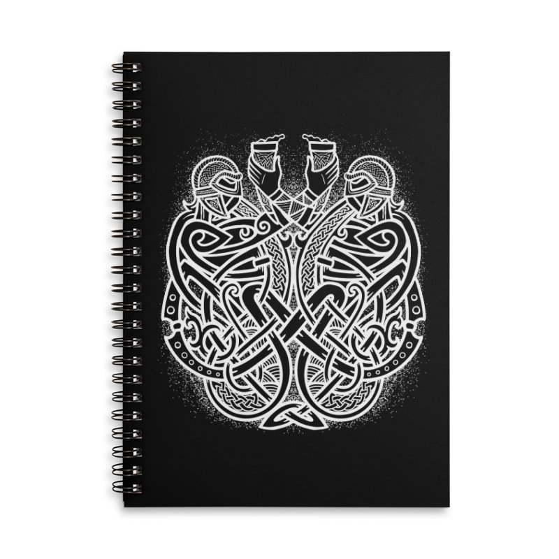 Drink to the Gods Accessories Lined Spiral Notebook by Celtic Hammer Club