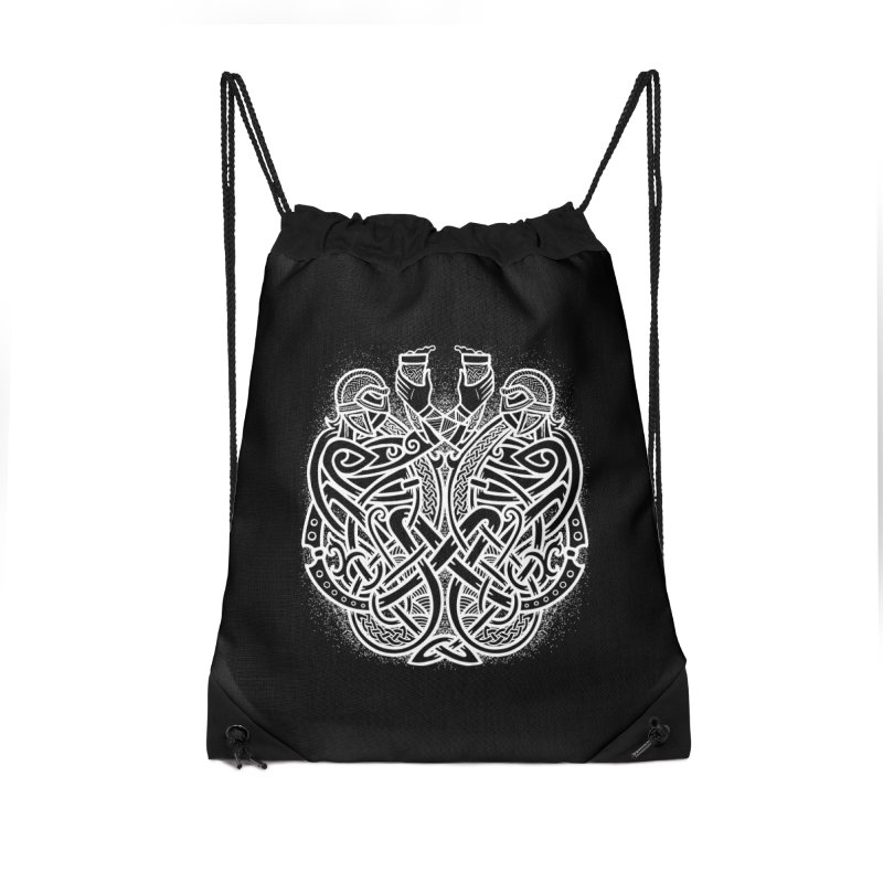 Drink to the Gods Accessories Drawstring Bag Bag by Celtic Hammer Club
