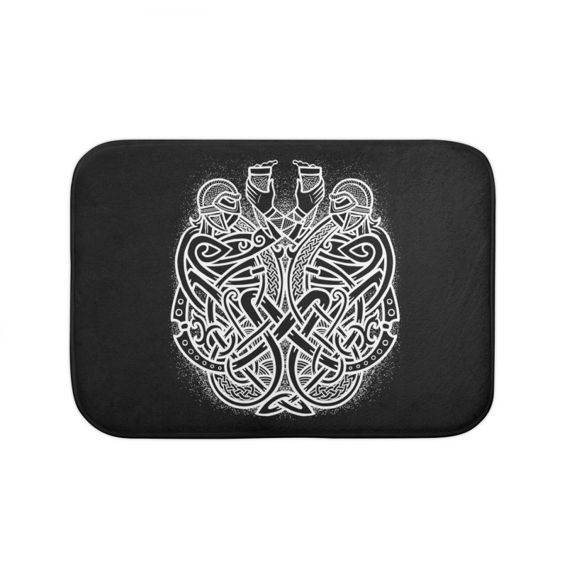 Drink to the Gods Home Bath Mat by Celtic Hammer Club