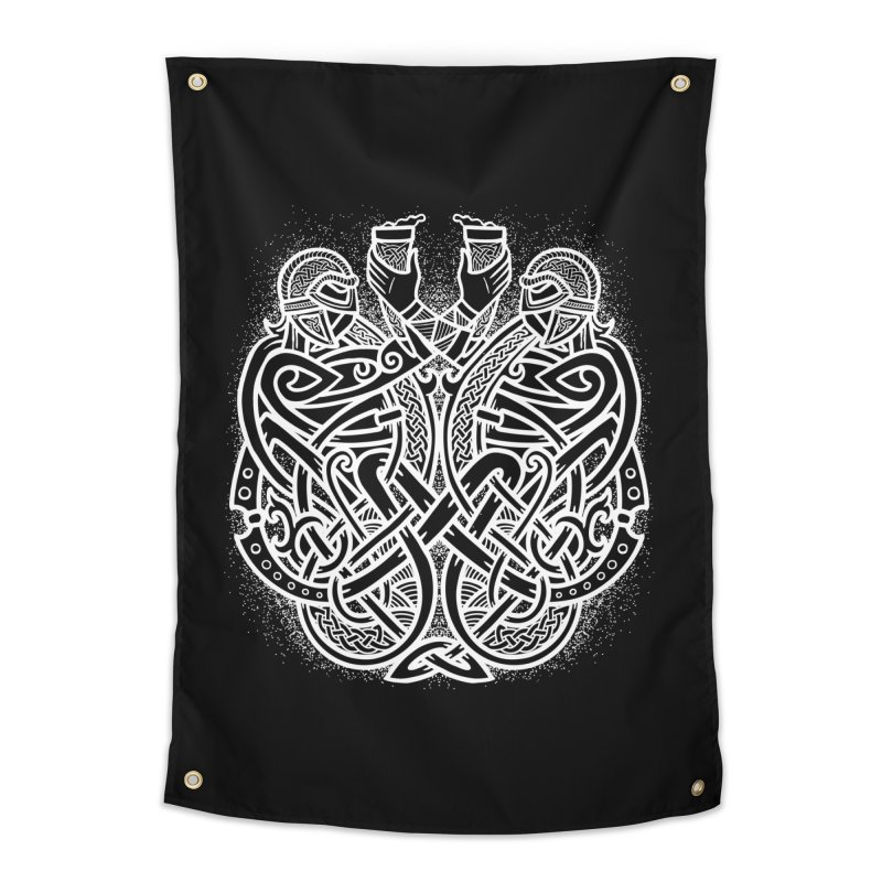Drink to the Gods Home Tapestry by Celtic Hammer Club