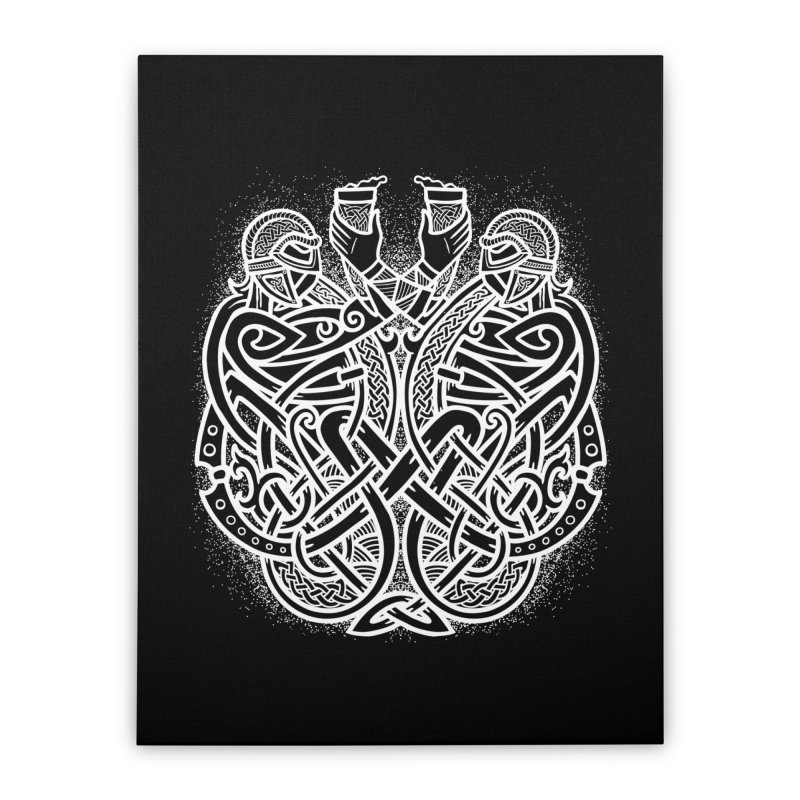 Drink to the Gods Home Stretched Canvas by Celtic Hammer Club