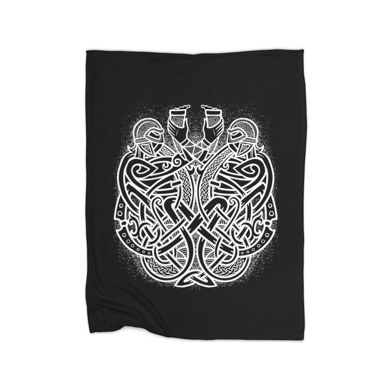 Drink to the Gods Home Fleece Blanket Blanket by Celtic Hammer Club