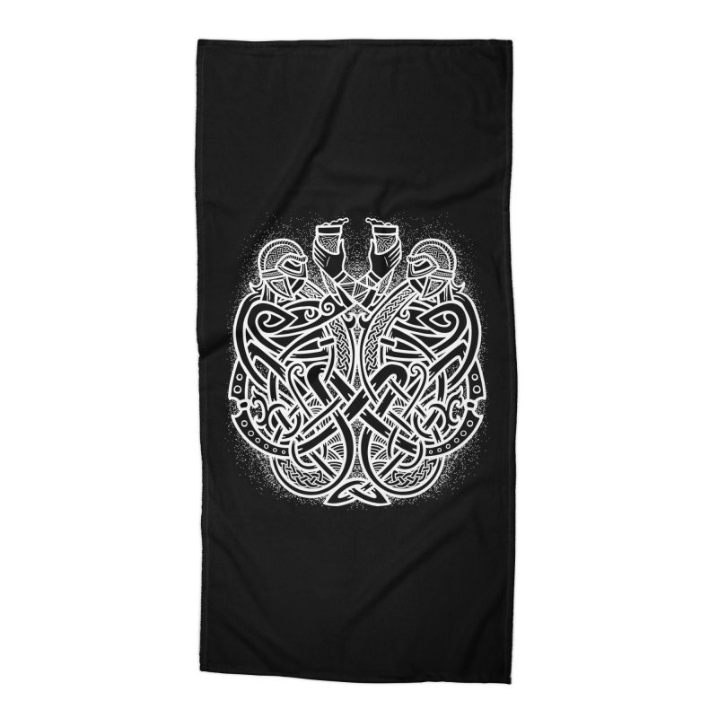 Drink to the Gods Accessories Beach Towel by Celtic Hammer Club