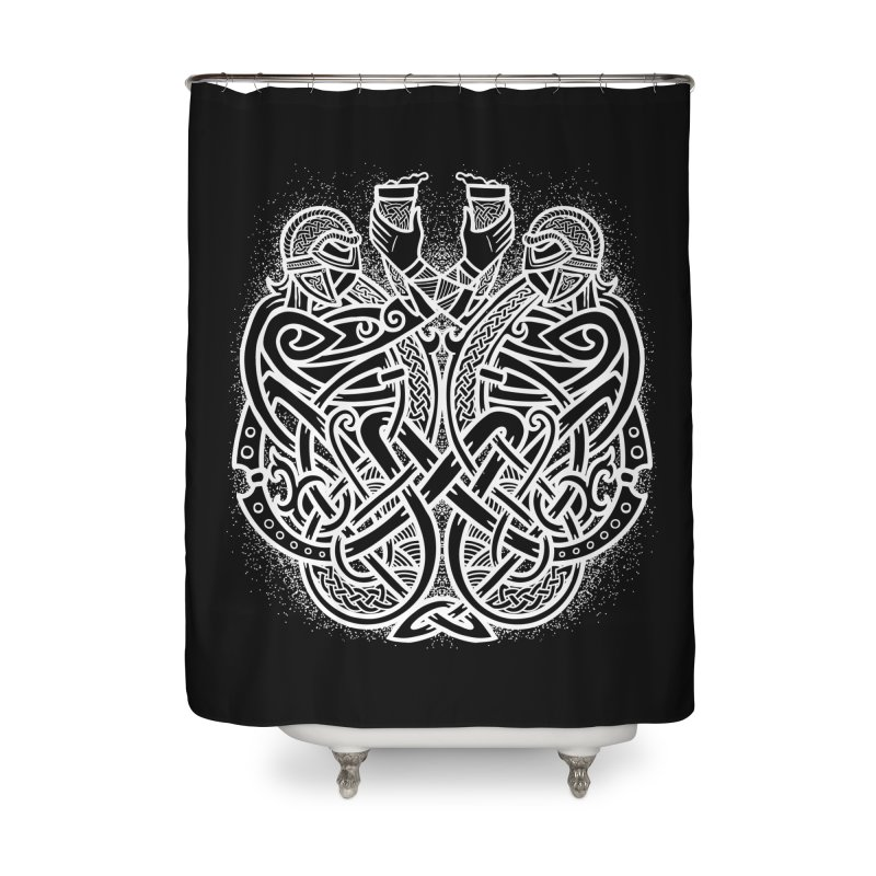 Drink to the Gods Home Shower Curtain by Celtic Hammer Club