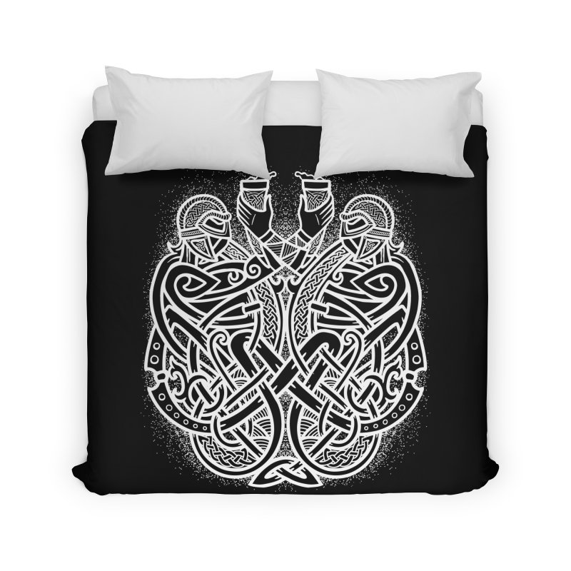 Drink to the Gods Home Duvet by Celtic Hammer Club