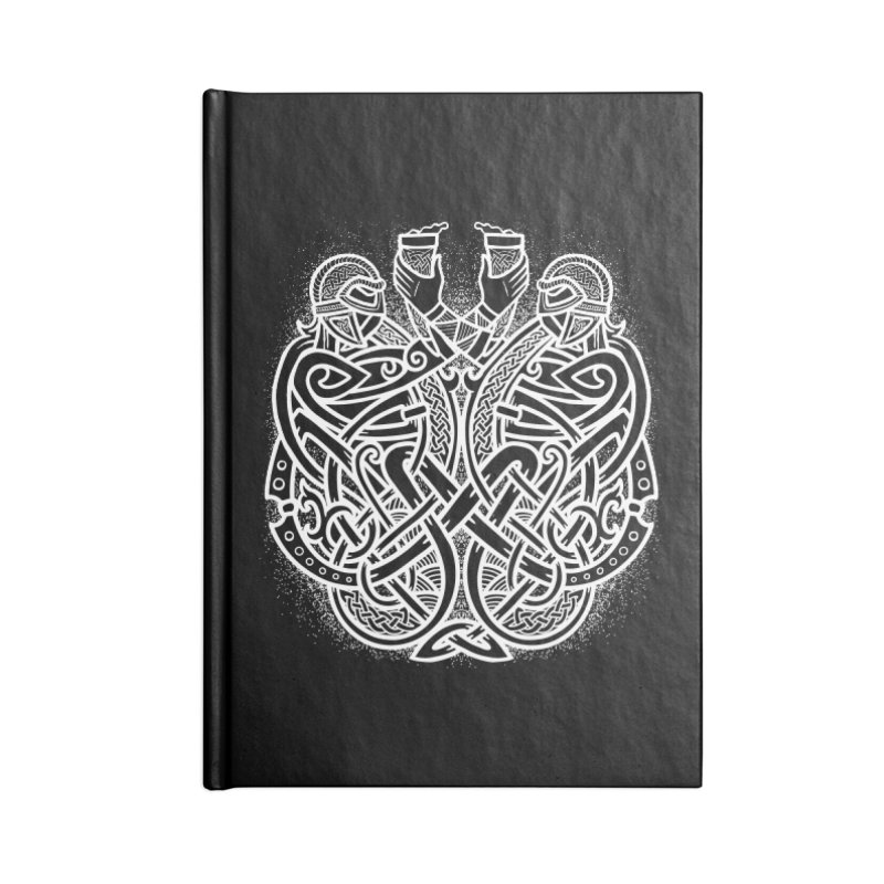 Drink to the Gods Accessories Blank Journal Notebook by Celtic Hammer Club