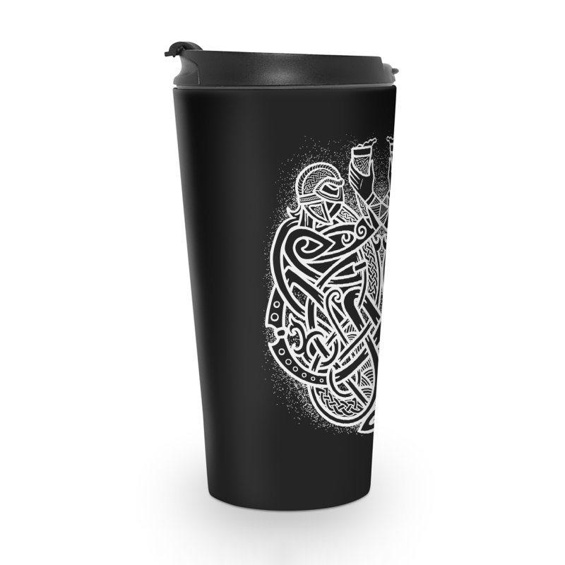 Drink to the Gods Accessories Travel Mug by Celtic Hammer Club