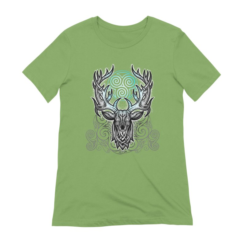 Legend of the White Stag Women's Extra Soft T-Shirt by Celtic Hammer Club