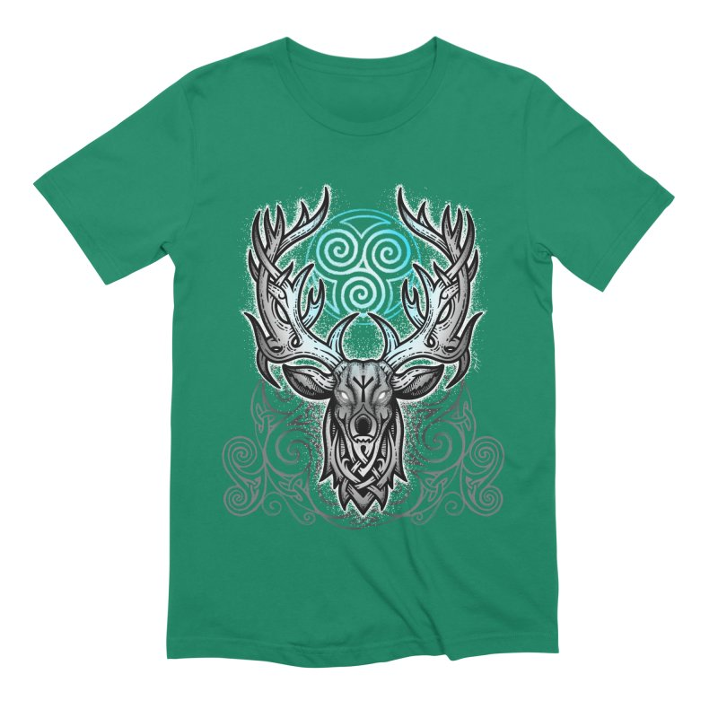 Legend of the White Stag Men's Extra Soft T-Shirt by Celtic Hammer Club