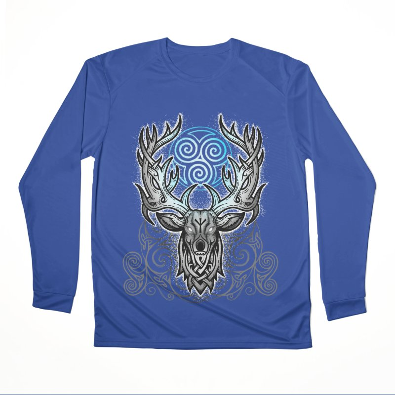 Legend of the White Stag Women's Performance Unisex Longsleeve T-Shirt by Celtic Hammer Club