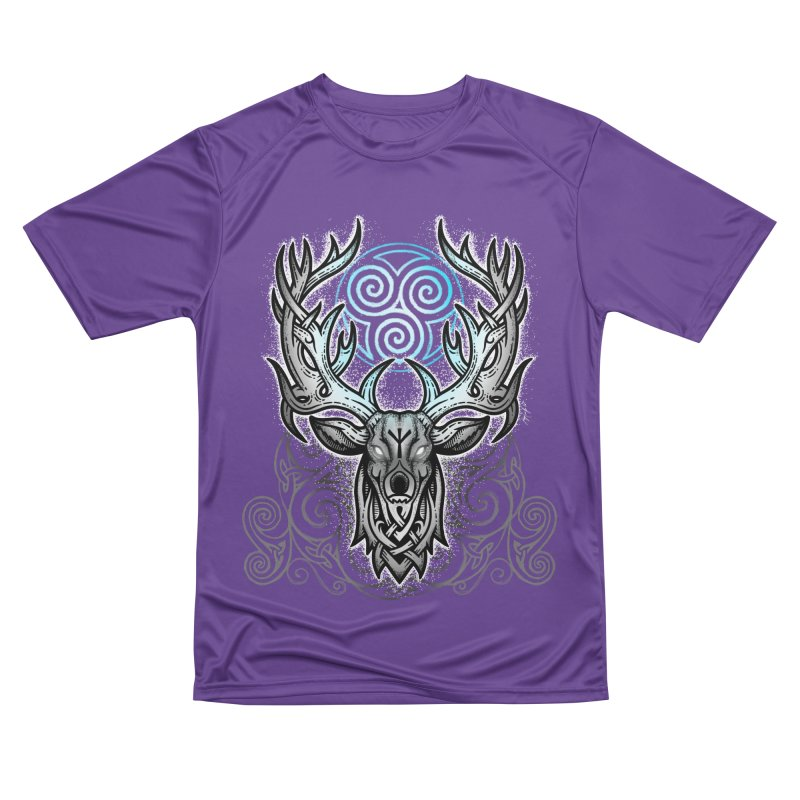 Legend of the White Stag Men's Performance T-Shirt by Celtic Hammer Club