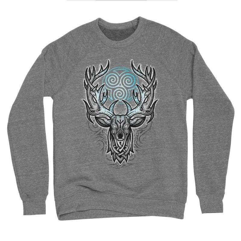 Legend of the White Stag Men's Sponge Fleece Sweatshirt by Celtic Hammer Club