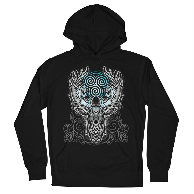 Legend of the White Stag Men's French Terry Pullover Hoody by Celtic Hammer Club