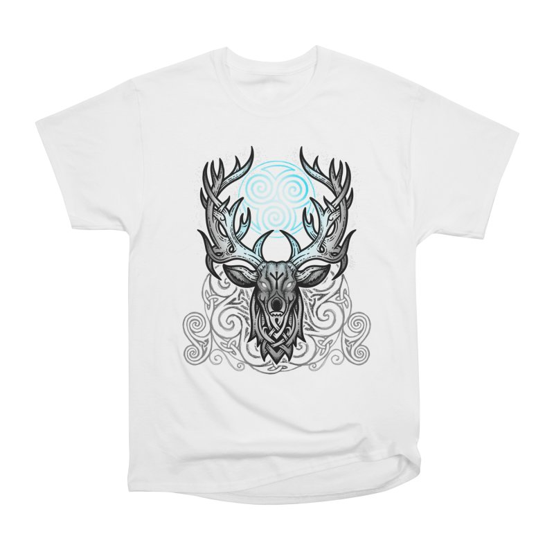 Legend of the White Stag Men's Heavyweight T-Shirt by Celtic Hammer Club