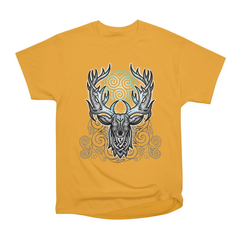 Legend of the White Stag Women's Heavyweight Unisex T-Shirt by Celtic Hammer Club