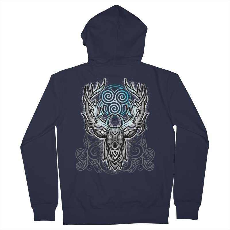 Legend of the White Stag Women's French Terry Zip-Up Hoody by Celtic Hammer Club