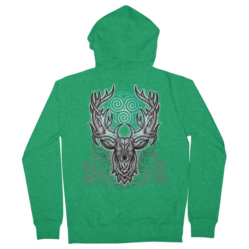 Legend of the White Stag Men's Zip-Up Hoody by Celtic Hammer Club