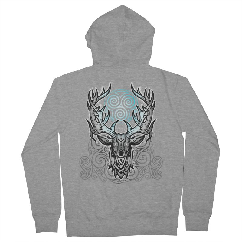 Legend of the White Stag Men's French Terry Zip-Up Hoody by Celtic Hammer Club