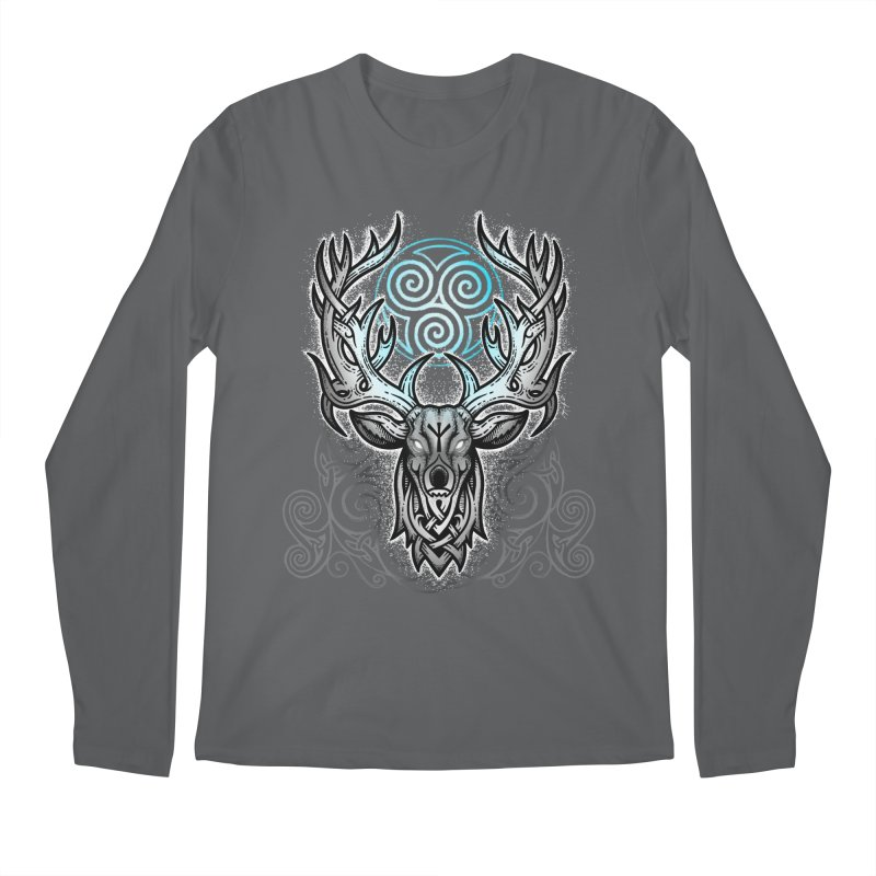 Legend of the White Stag Men's Longsleeve T-Shirt by Celtic Hammer Club