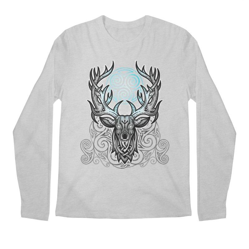 Legend of the White Stag Men's Regular Longsleeve T-Shirt by Celtic Hammer Club