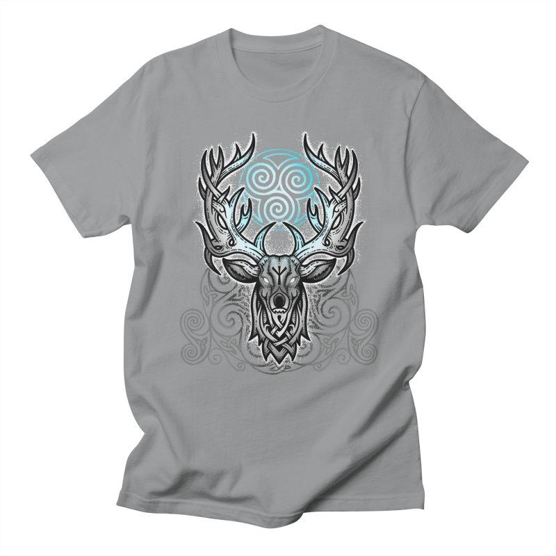 Legend of the White Stag Men's Regular T-Shirt by Celtic Hammer Club