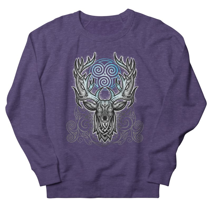 Legend of the White Stag Men's French Terry Sweatshirt by Celtic Hammer Club