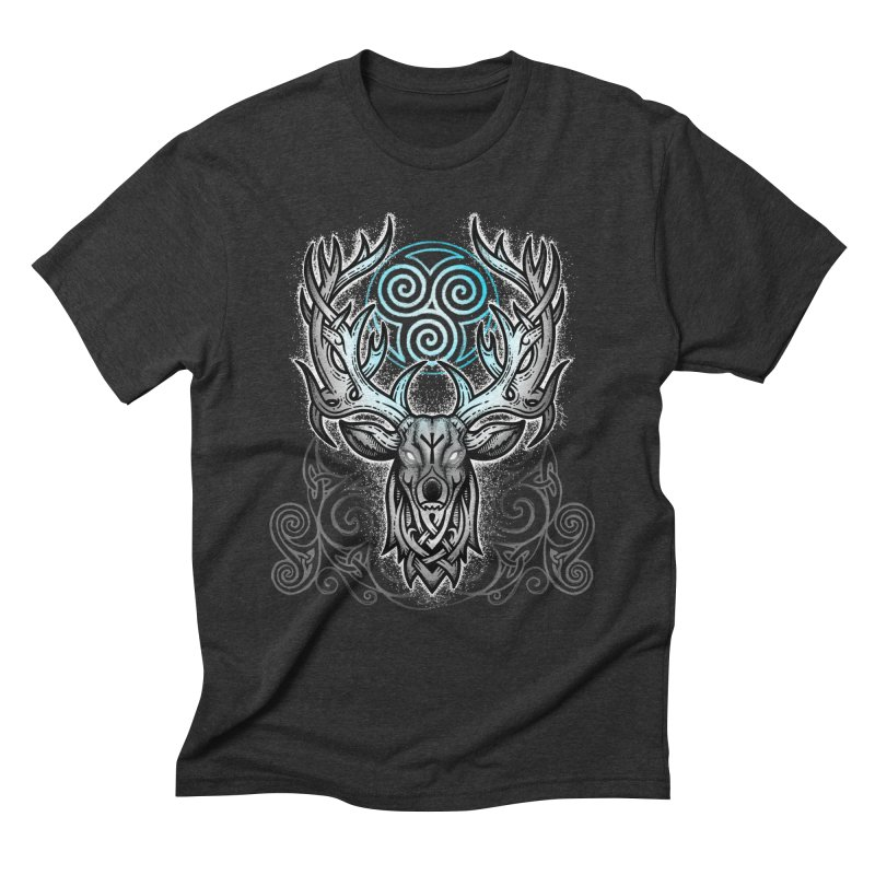 Legend of the White Stag Men's Triblend T-Shirt by Celtic Hammer Club