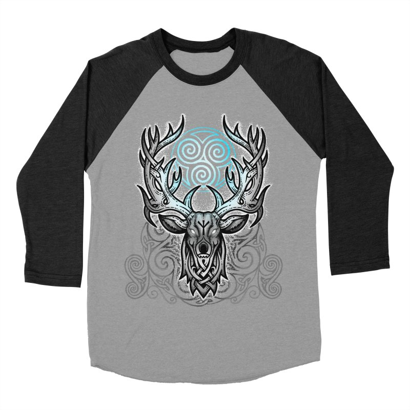 Legend of the White Stag Women's Baseball Triblend Longsleeve T-Shirt by Celtic Hammer Club