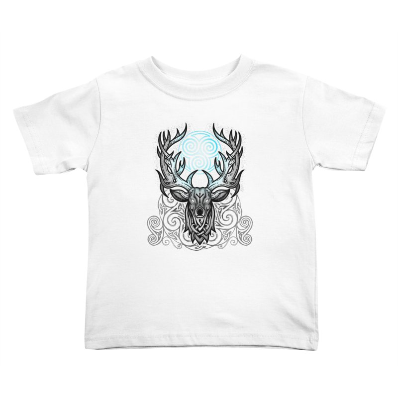 Legend of the White Stag Kids Toddler T-Shirt by Celtic Hammer Club