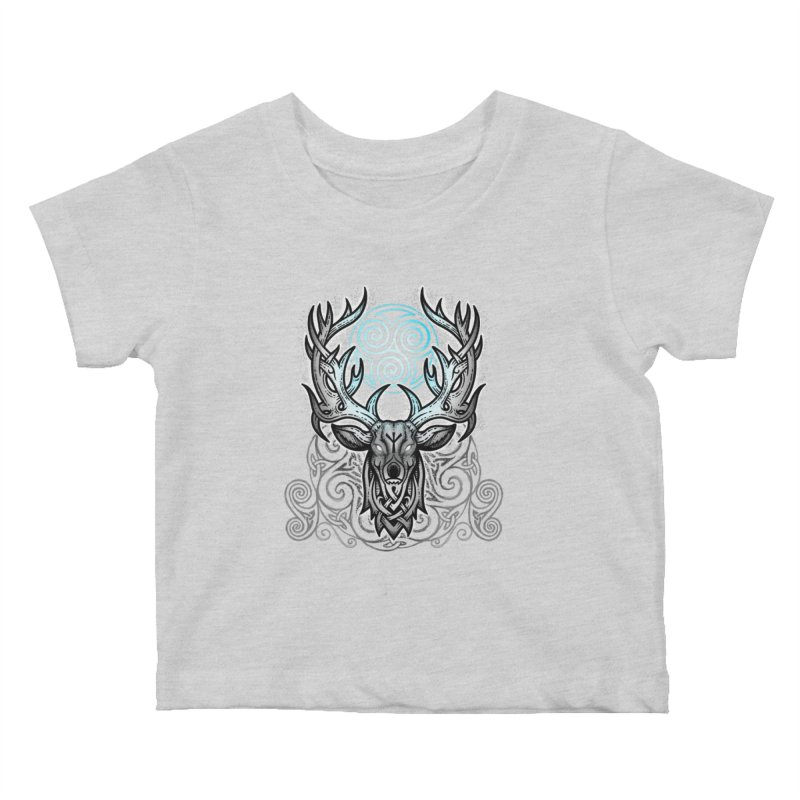Legend of the White Stag Kids Baby T-Shirt by Celtic Hammer Club