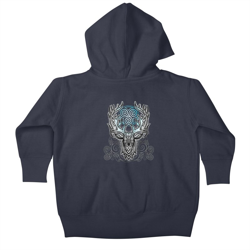 Legend of the White Stag Kids Baby Zip-Up Hoody by Celtic Hammer Club