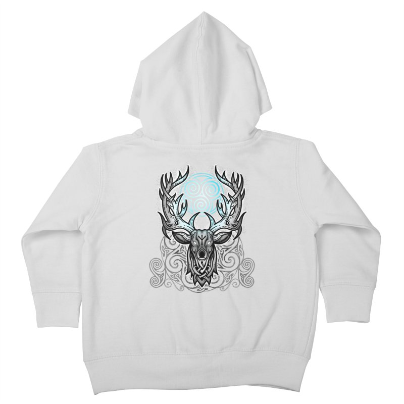 Legend of the White Stag Kids Toddler Zip-Up Hoody by Celtic Hammer Club
