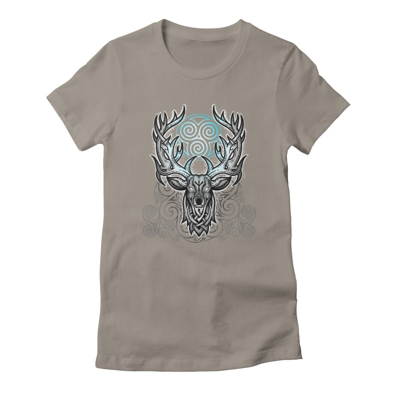 Legend of the White Stag Women's Fitted T-Shirt by Celtic Hammer Club
